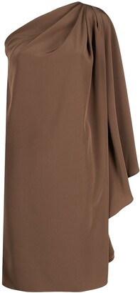 Gianluca Capannolo Asymmetric One-Shoulder Silk Dress