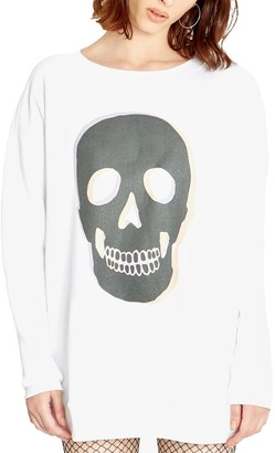 Wildfox Couture Roadtrip Glowing Skull Sweatshirt