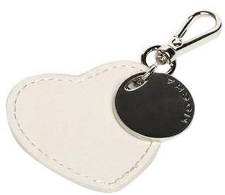 Mocha Jane Leather Heart Key Ring -