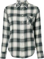 R 13 'Slim Boy' plaid shirt - women - Cotton/Viscose - XS