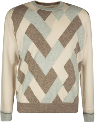 Malo Patterned Ribbed Sweater