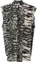 Saint Laurent tiger print blouse