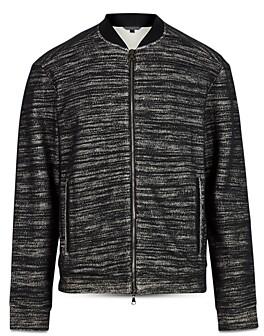 John Varvatos Collection Textured Regular Fit Bomber Jacket