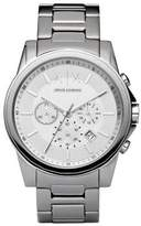 Armani Exchange Mens Round Silver Stainless Steel Multi Function Watch