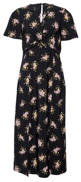 Dorothy Perkins Womens Black Floral Print Tea Dress, Black