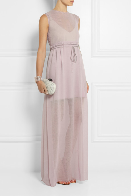 Calvin Klein Collection Wool-gauze maxi dress