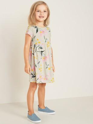 Old Navy Floral-Print Jersey Fit & Flare Dress for Toddler Girls