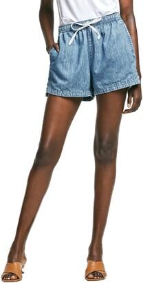 Outland Denim Faith Elastic Waist Chambray Shorts