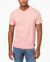 Tommy Hilfiger Men's Heathered Henley T-Shirt, Created for Macy's