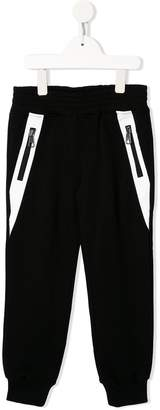Neil Barrett Kids side zip straight leg track pants