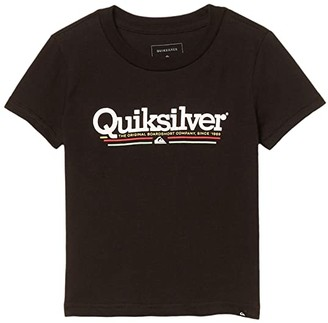 Quiksilver Tropical Lines Screen Tee (Toddler/Little Kids) (Black) Boy's Clothing