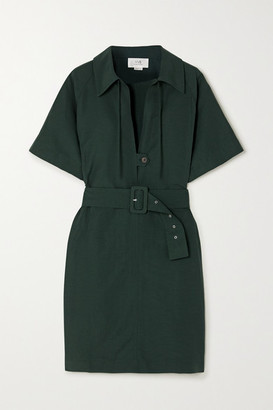 Victoria Victoria Beckham Victoria, Victoria Beckham Belted Woven Dress