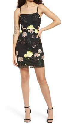 Lulus Embroidered Sequin Dress
