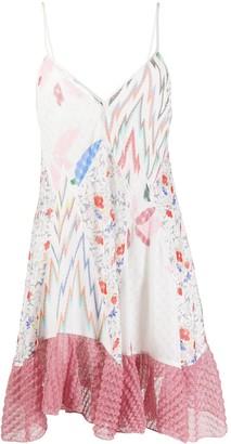 Missoni Floral-Pattern Frill-Hem Dress