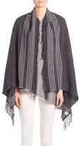 Eileen Fisher Wool Blend Fringed Scarf