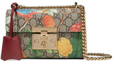 Gucci Padlock Small Coated-canvas And Leather Shoulder Bag - Beige