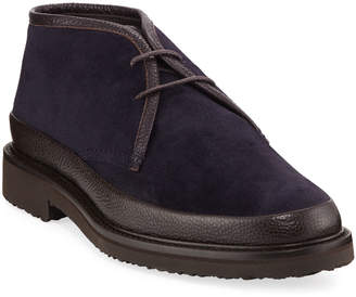 Ermenegildo Zegna Trivero Suede & Leather Chukka Boot