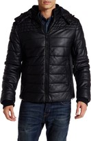 Rogue Faux Leather Coated Canvas Jacket