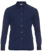 MAISON KITSUNÉ Floral-embroidered cotton shirt
