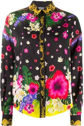 Versace Jeans Couture Floral Print Shirt