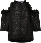 MSGM lace-detail blouse - women - Cotton/Polyester - 42