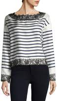 Dolce & Gabbana Women's Stripe Embroidery Top