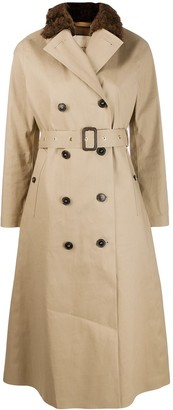 MACKINTOSH MONTROSE Fawn Bonded Cotton Long Trench Coat | LR-091/FUR