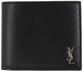 Saint Laurent Black Tiny Monogramme East/West Wallet
