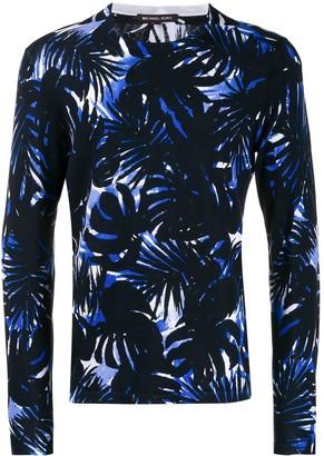 Michael Kors leaf print sweatshirt