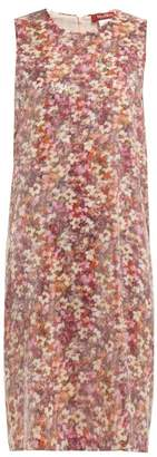 Max Mara Blocco Dress - Womens - Pink Multi