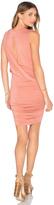 Krisa Twisted Drape Sheered Mini Dress