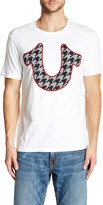 True Religion Houndstooth Logo Crew Neck Graphic Tee
