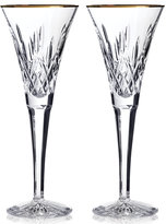 Waterford Gifts, Lismore Gold Toasting Flute Pair
