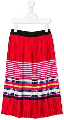 Karl Lagerfeld Paris Pleated Striped Skirt
