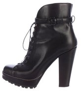 Alaia Platform Lace-Up Ankle Boots