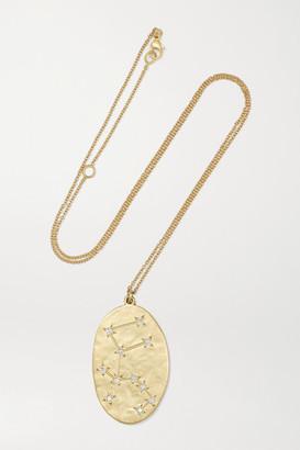 Brooke Gregson Aquarius 14-karat Gold Diamond Necklace - one size