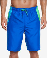 "Nike Men's Side Striped Water Shedding Swim Trunks, 9"""