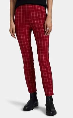 Rag & Bone Women's Simone Checked Crop Pants - Red