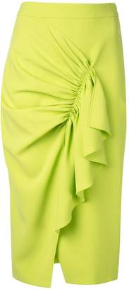 Christian Siriano ruffled trim pencil skirt