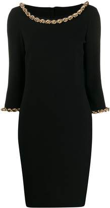 Moschino Chain Trim Midi Dress