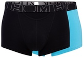 Hom Pack Of Two Turquoise Boxer Briefs