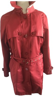 Burberry Red Polyester Coats
