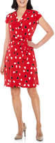 Liz Claiborne Short Sleeve Hearts Wrap Dress
