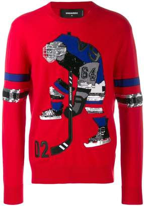DSQUARED2 64 embroidered jumper