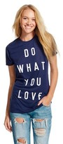 Mighty Fine Do What You Love Graphic Tee Heather Blue (L)