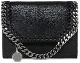 Stella McCartney black falabella shaggy deer small wallet