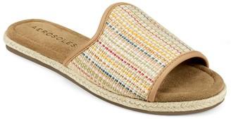 Aerosoles Denville Basket Weave Espadrille Slide Sandal