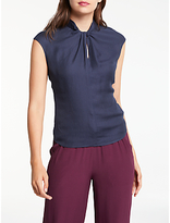 Max Studio Front Twist Top, Dark Navy