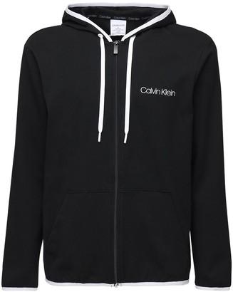 Calvin Klein Underwear Logo Stretch Cotton Full Zip Hoodie