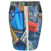 Moschino Editorial Mini Skirt